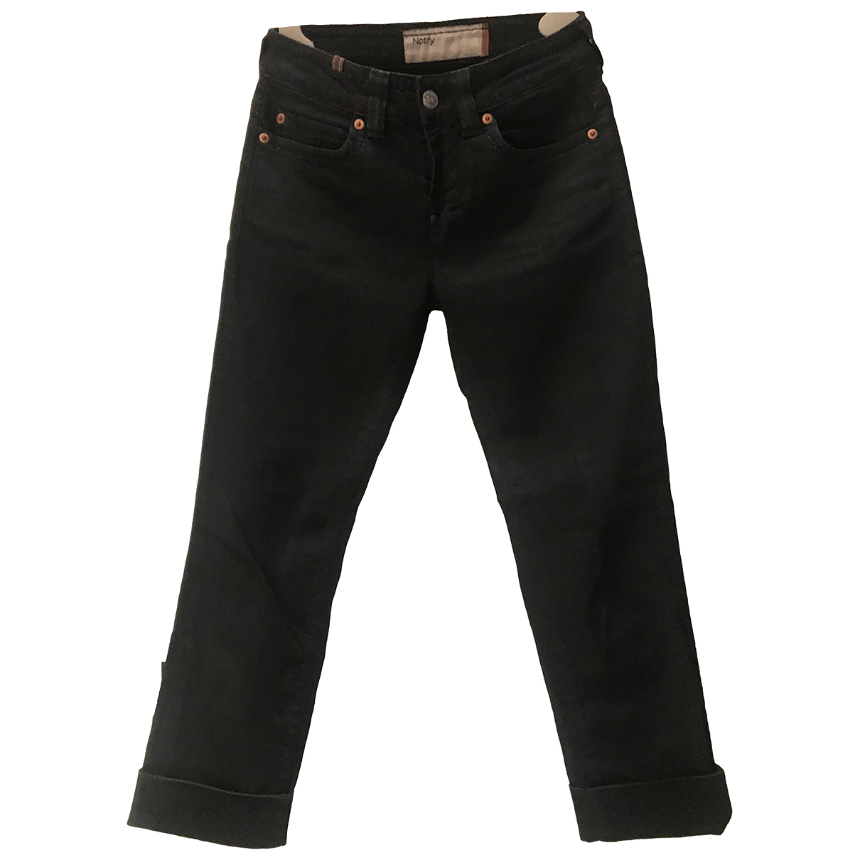 Notify N Black Cotton - elasthane Jeans for Women 25 US