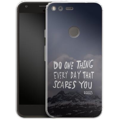 Google Pixel Silikon Handyhuelle - Scares You von Leah Flores