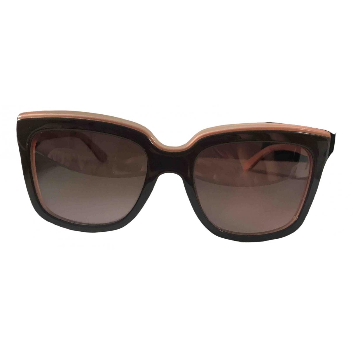 Salvatore Ferragamo \N Sonnenbrillen in  Braun Kunststoff