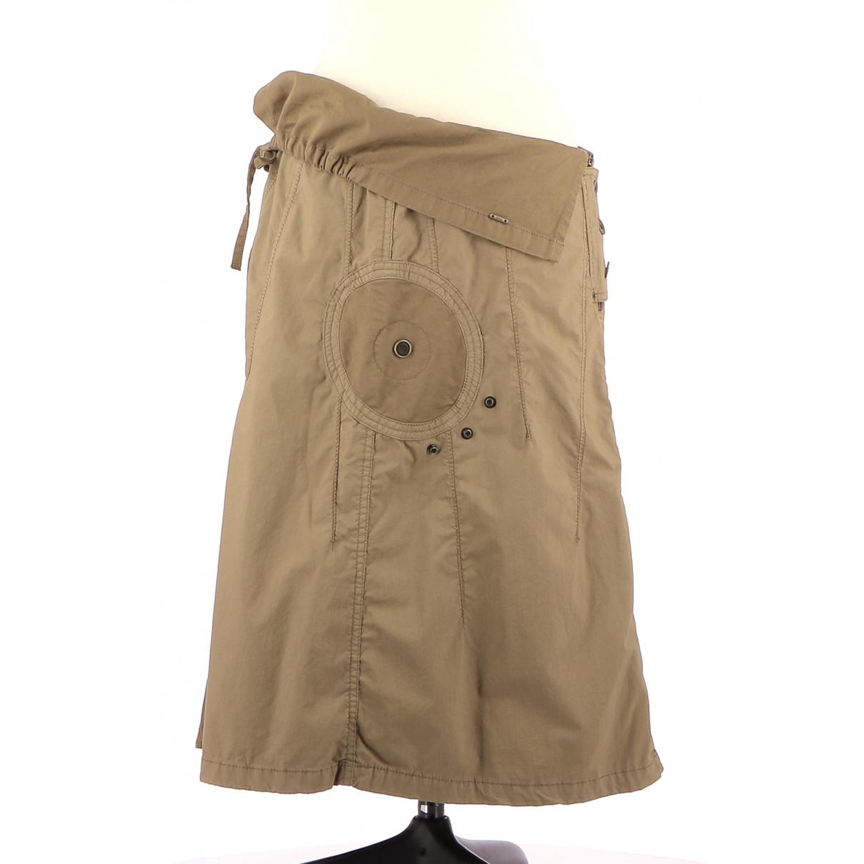 Ikks \N Brown Cotton skirt for Women 38 FR