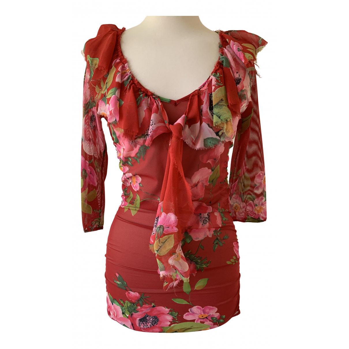 Blumarine N Multicolour Silk  top for Women 44 IT