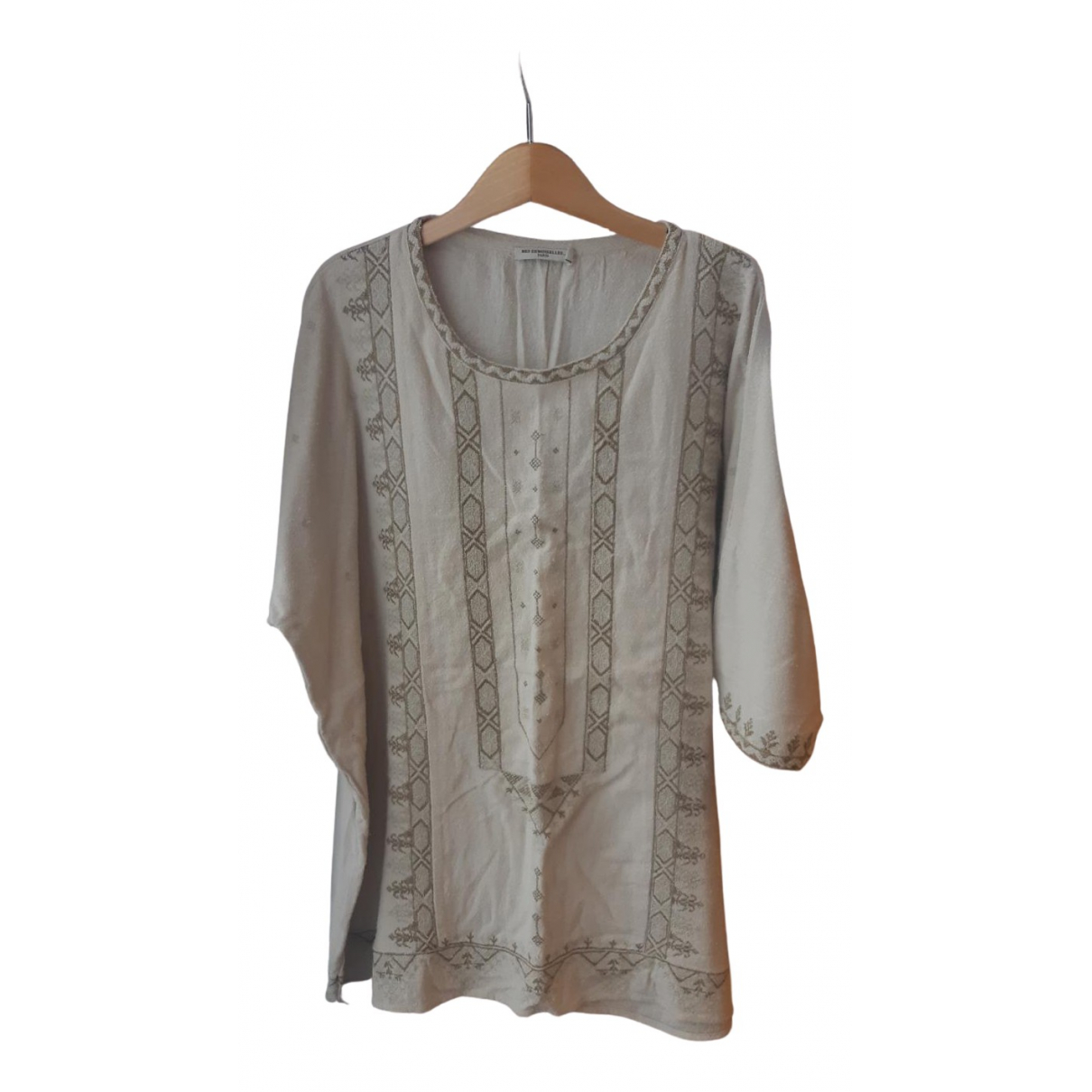 Mes Demoiselles ... N Beige Silk  top for Women One Size FR