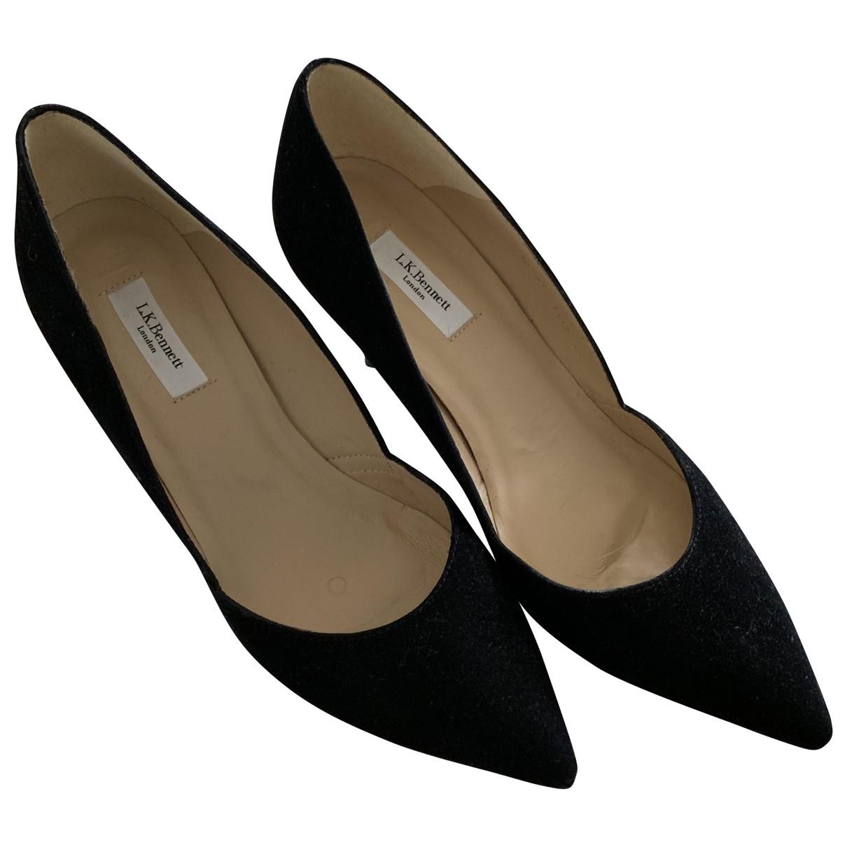 Lk Bennett \N Black Suede Heels for Women 5 UK