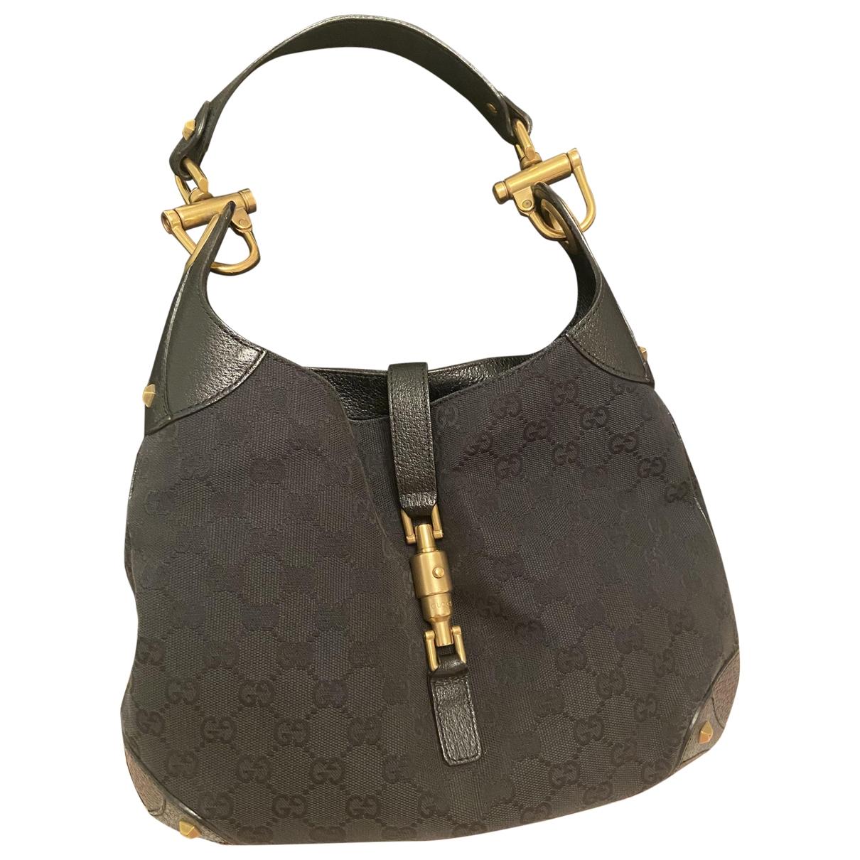 Gucci Jackie Black Cloth handbag for Women \N