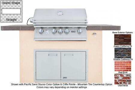 90102 Superior Q L75000 Premium Stainless Steel Grill with Stucco Base  Tile Countertop  Stainless Steel Double Door with Towel Rack  GFCI Outlet and