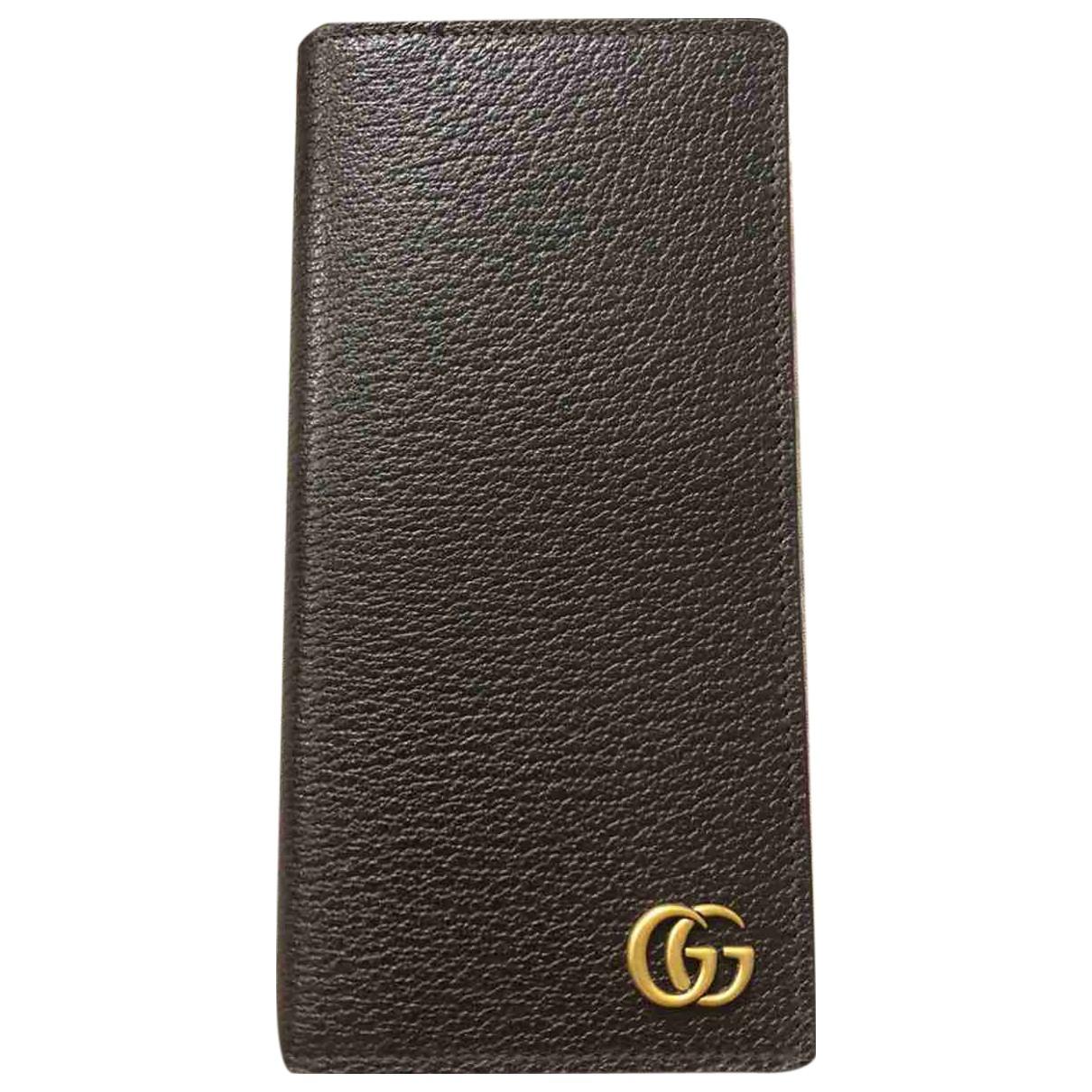 Gucci - Petite maroquinerie   pour homme en cuir - marron