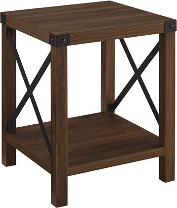 AF18MXSTDW Rustic Wood Side Table in Dark
