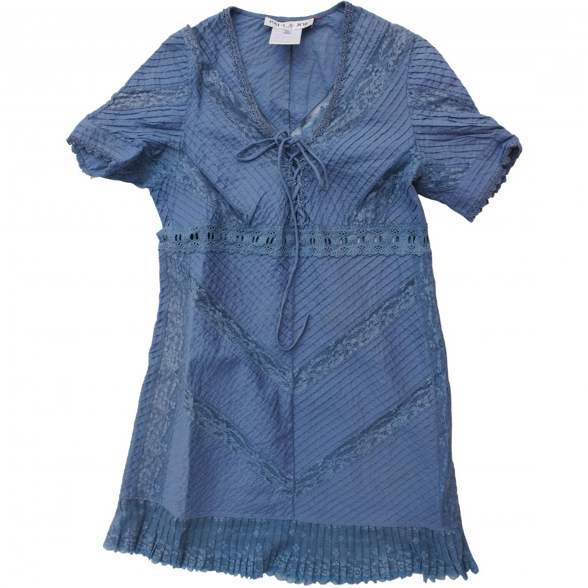 Paul & Joe \N Blue Cotton dress for Women 42 FR