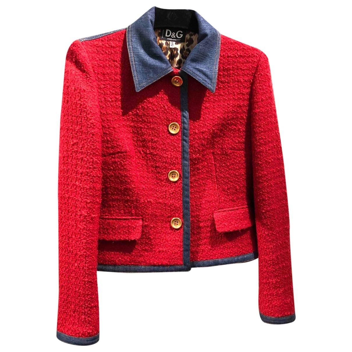 D&g \N Red Wool jacket for Women 42 IT
