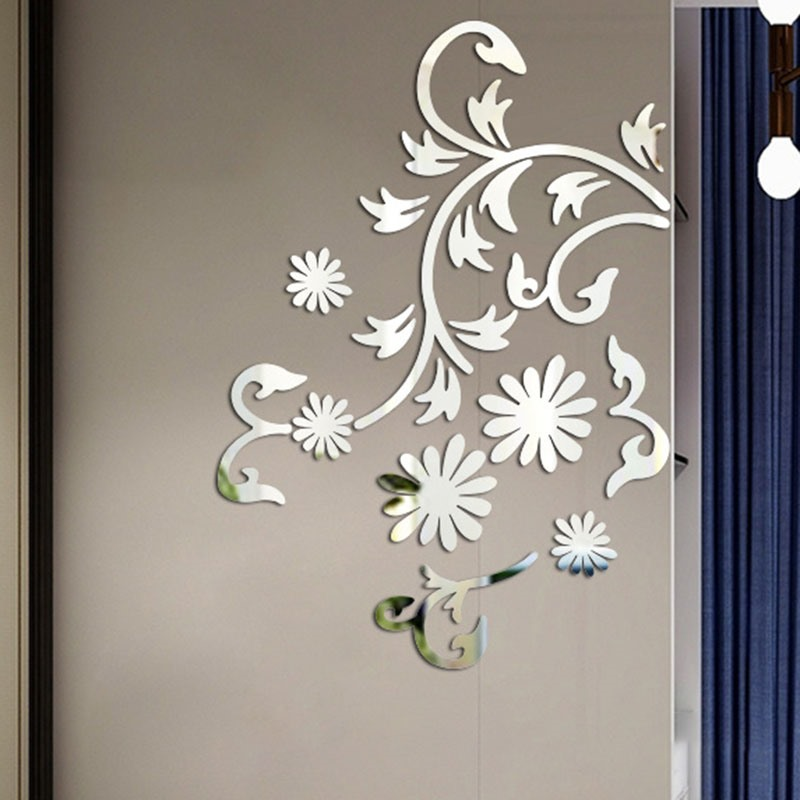 Ericdress Flower Design Sliver Wall Poster
