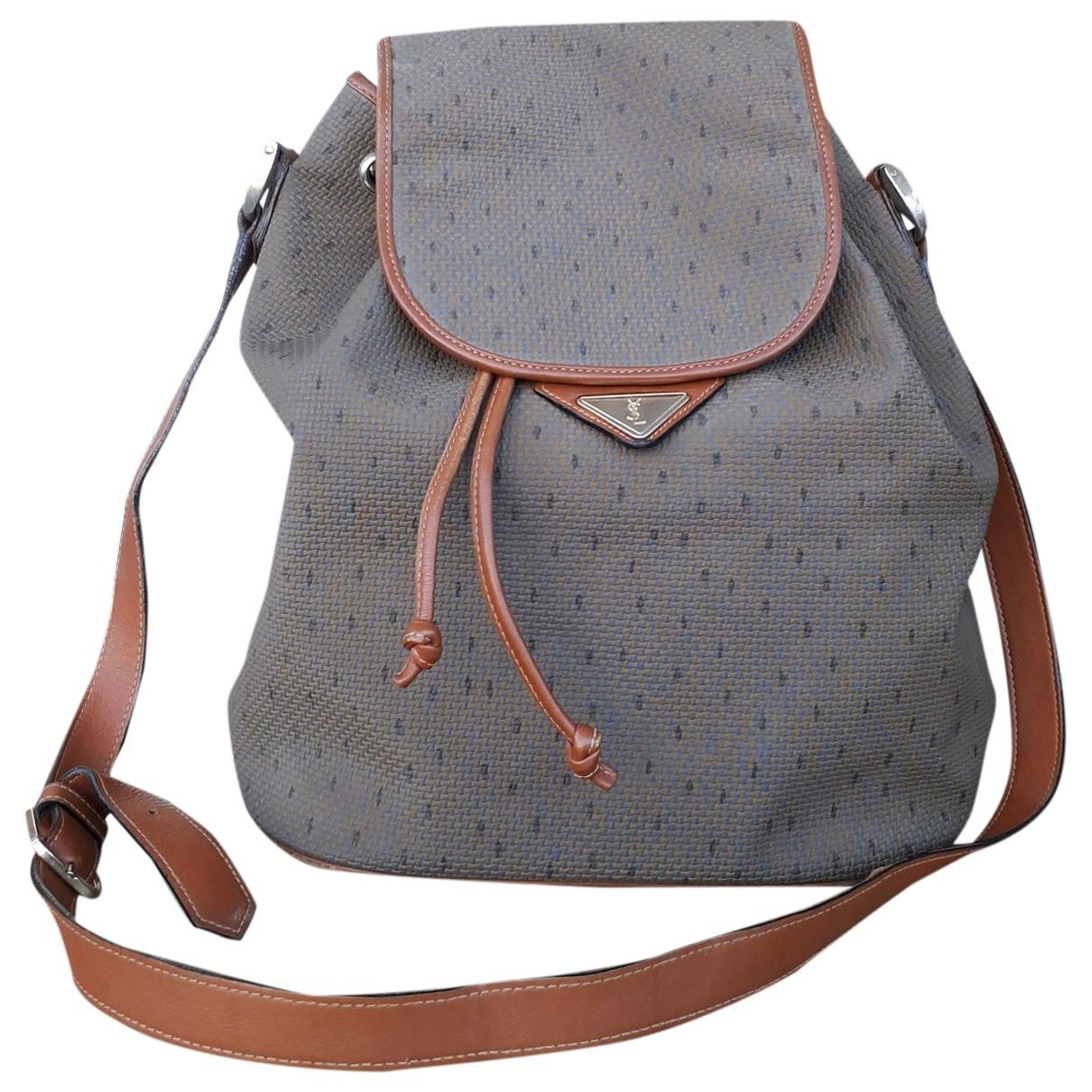 Yves Saint Laurent \N Brown Cloth handbag for Women \N