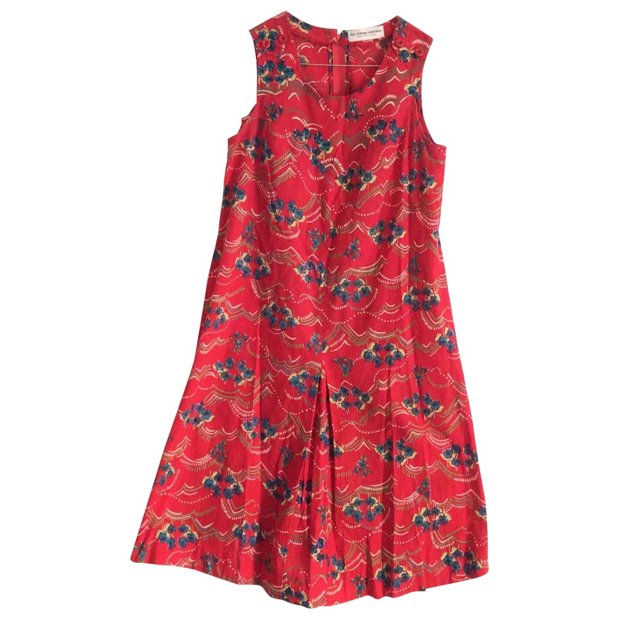 Non Signé / Unsigned \N Red Cotton dress for Women M International