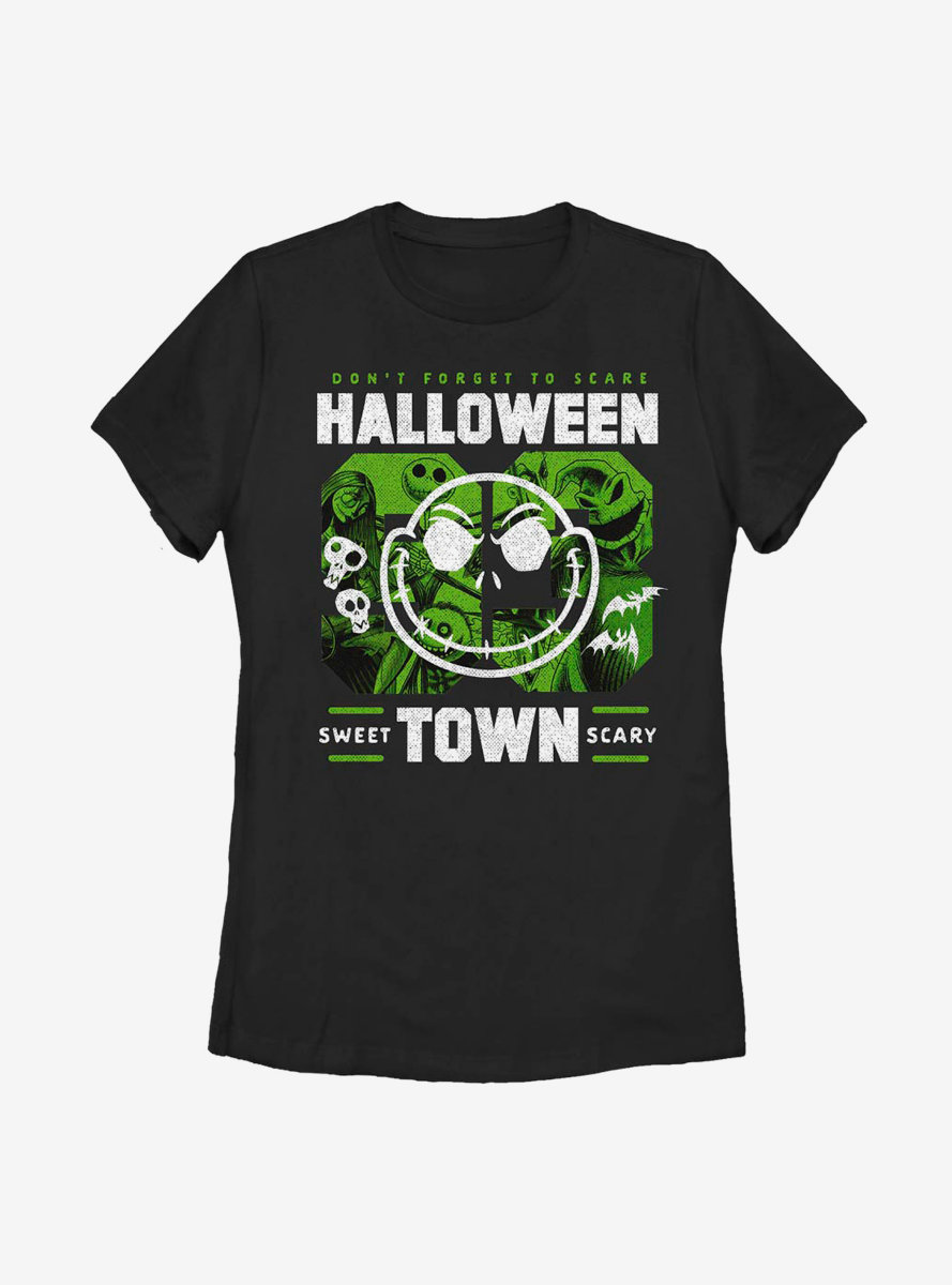Disney The Nightmare Before Christmas Halloweentown College Womens T-Shirt