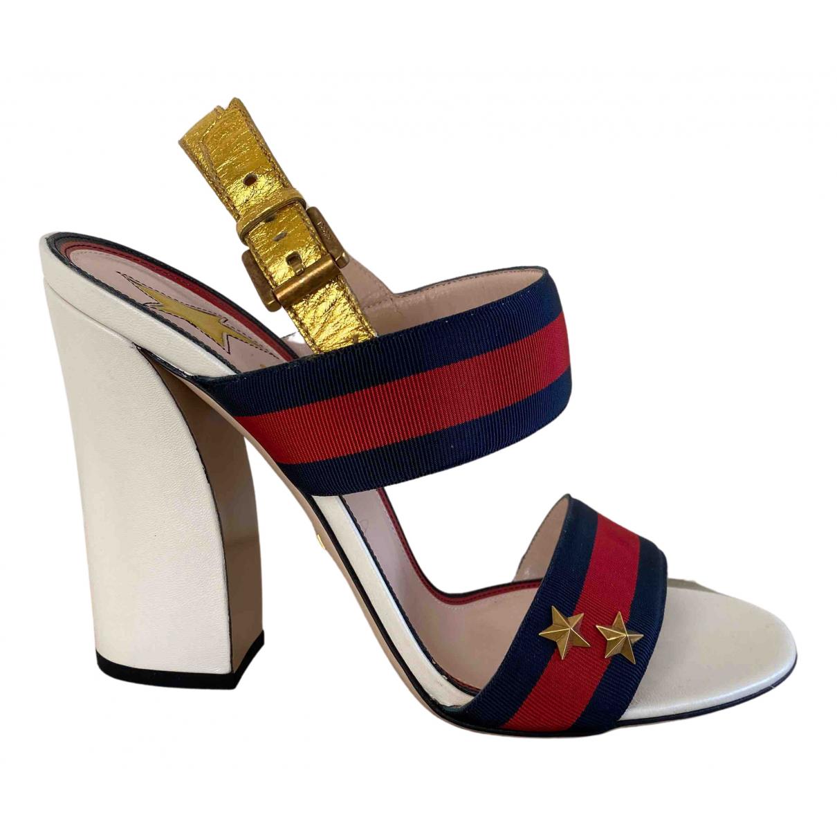Gucci N Navy Cloth Sandals for Women 40 EU