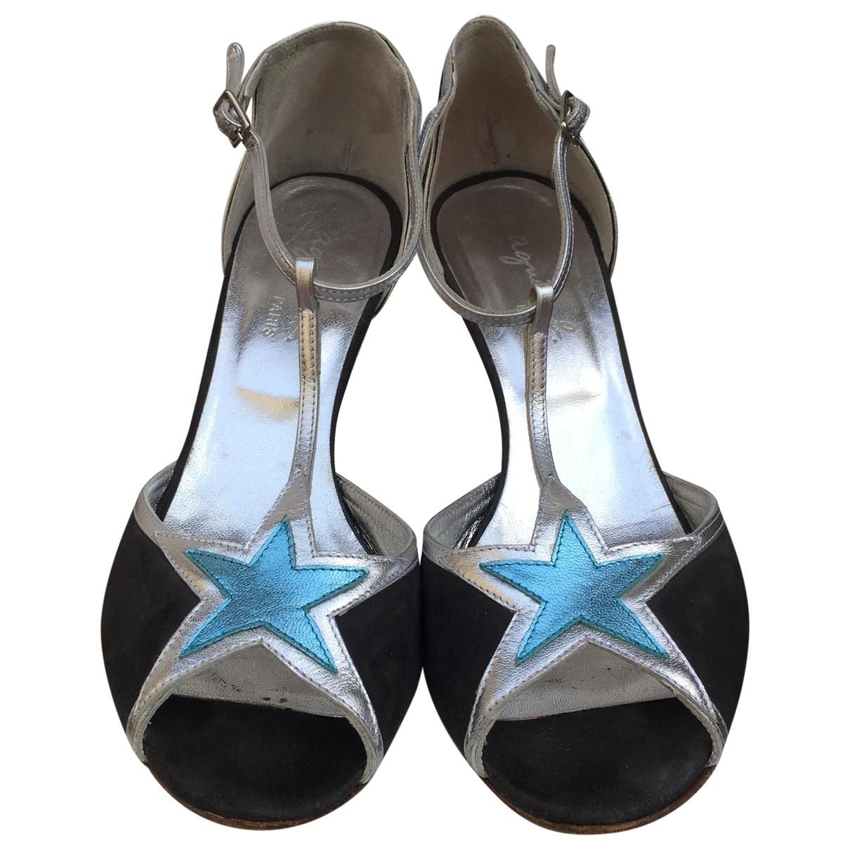 Agnès B. \N Silver Leather Sandals for Women 39 EU