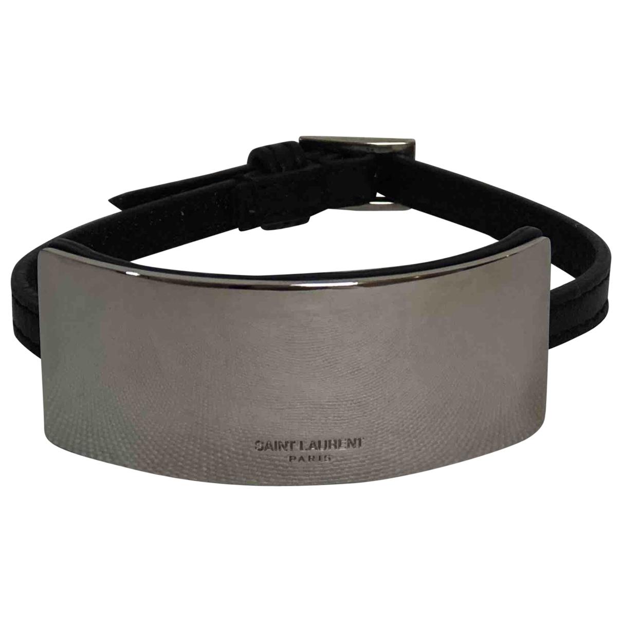Saint Laurent \N Silver Leather bracelet for Women \N