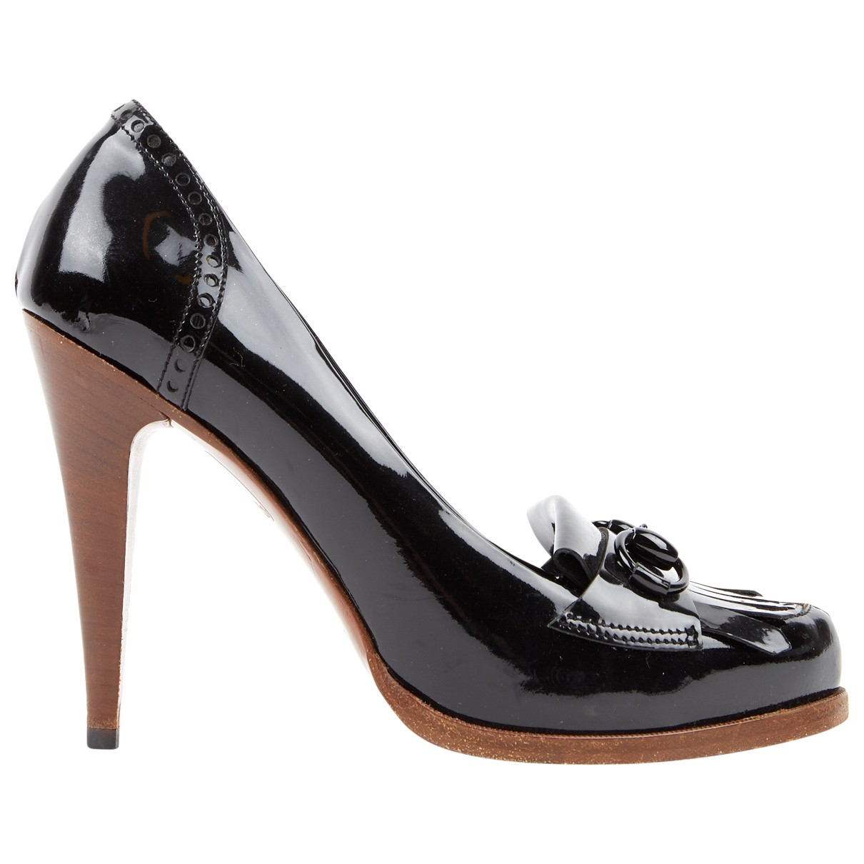Gucci \N Black Patent leather Heels for Women 37 EU