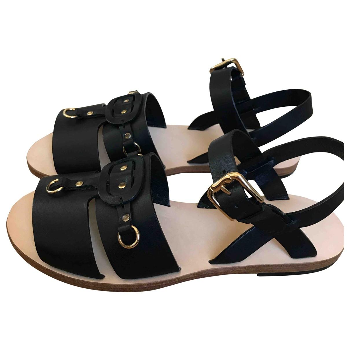 Apc \N Sandalen in  Schwarz Leder