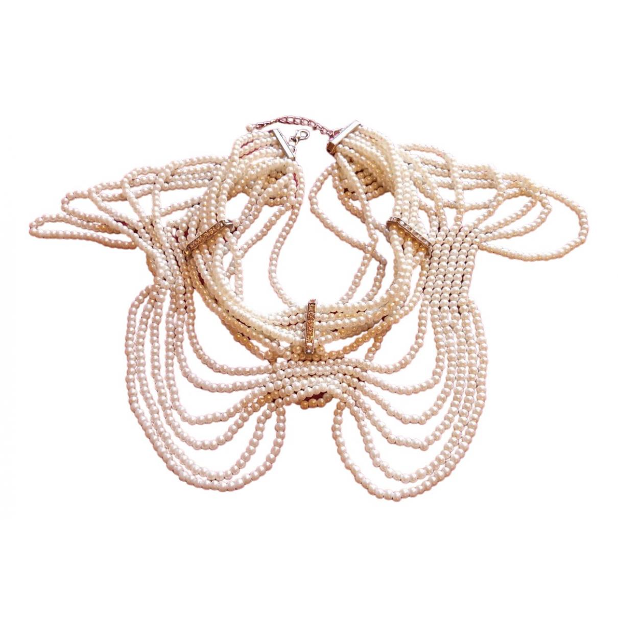 - Collier Nacre pour femme en perles - blanc