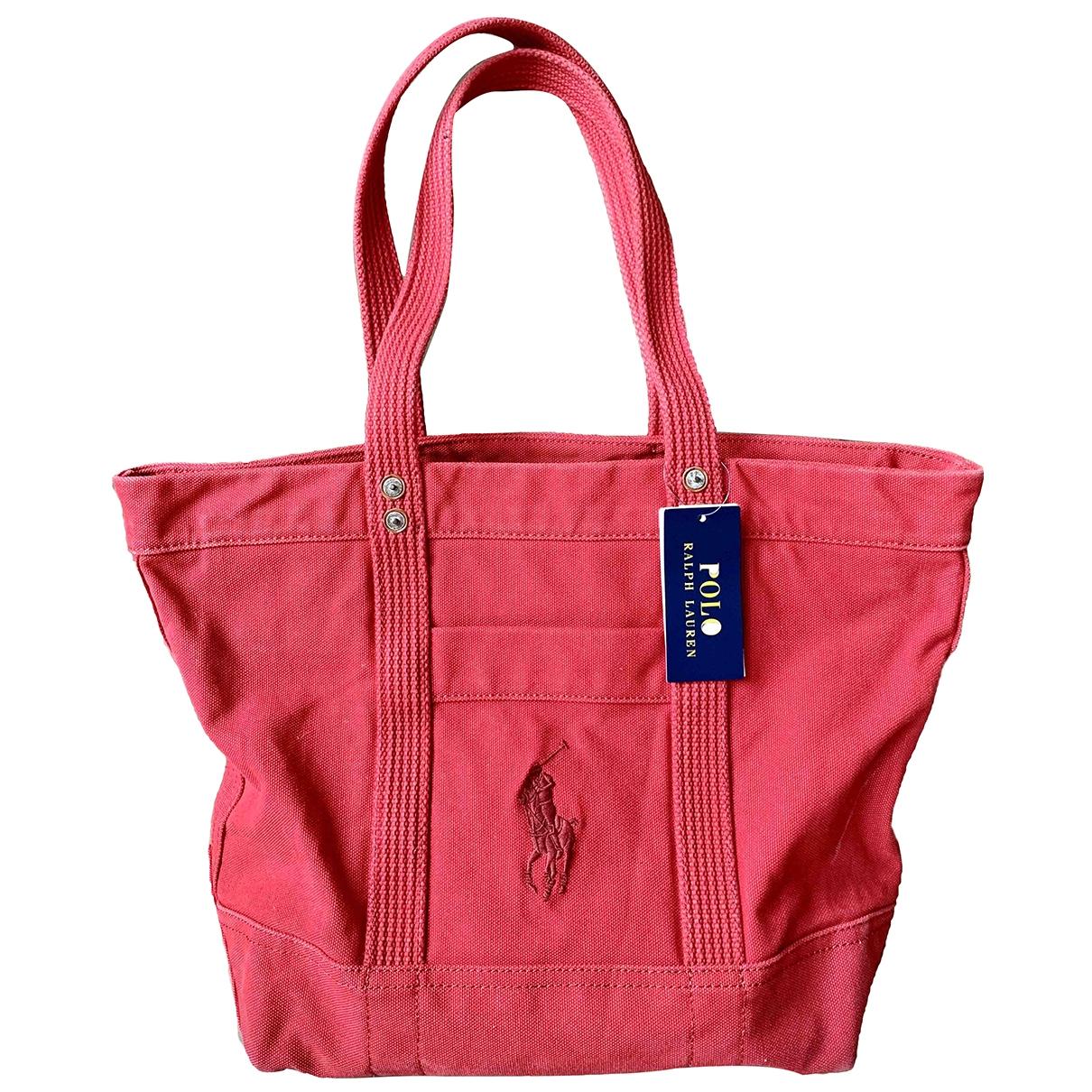 Bolso de mano en Algodon Rojo Polo Ralph Lauren