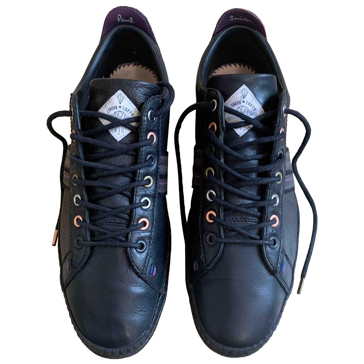 Paul Smith - Baskets   pour homme en cuir - noir