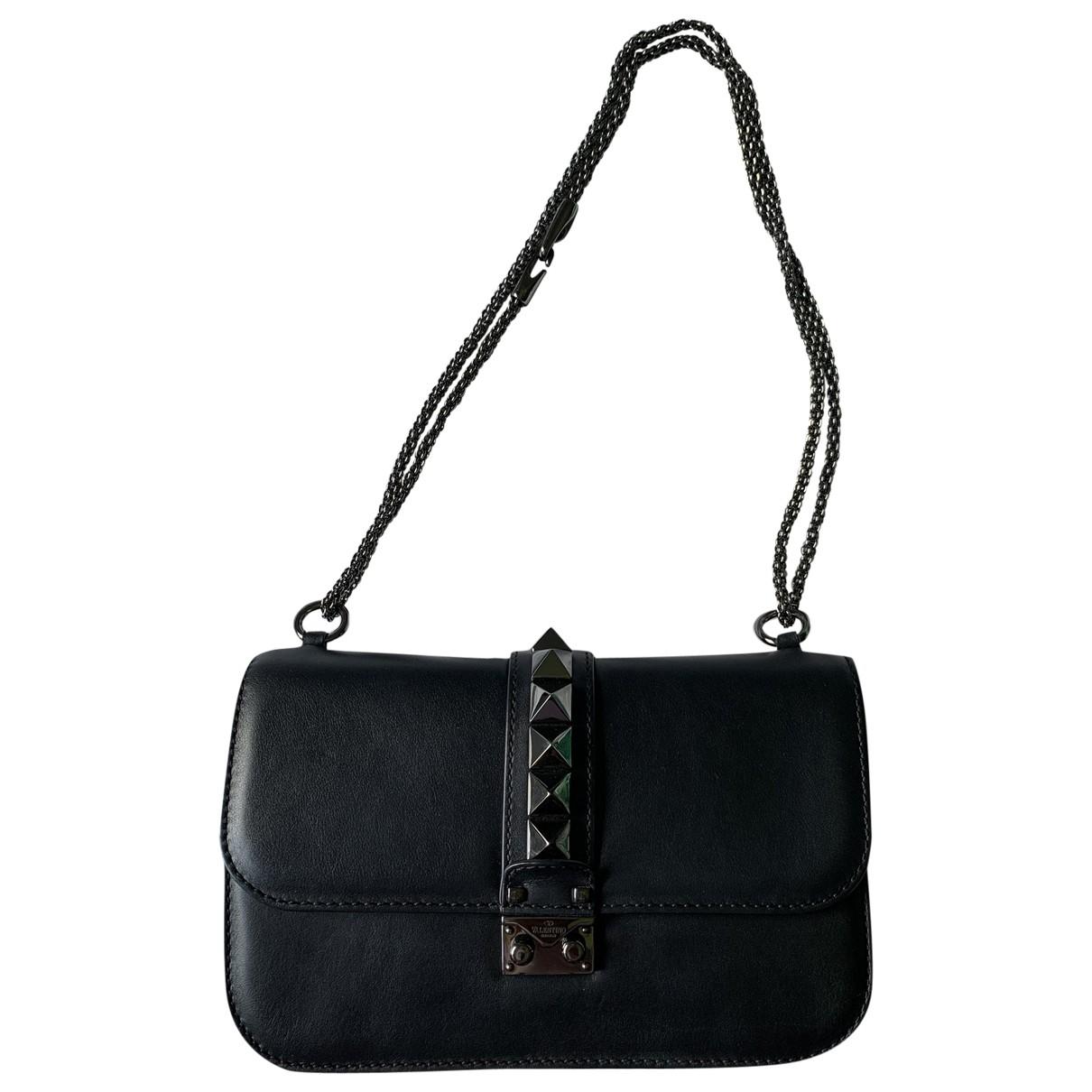 Valentino Garavani Glam Lock Black Leather handbag for Women \N