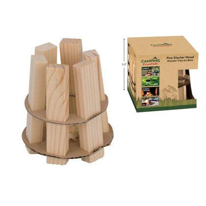 Pack unique d'allume-feu pour la combustion du bois, usage intérieur et extérieur, 2.9''x2.9''x3.15