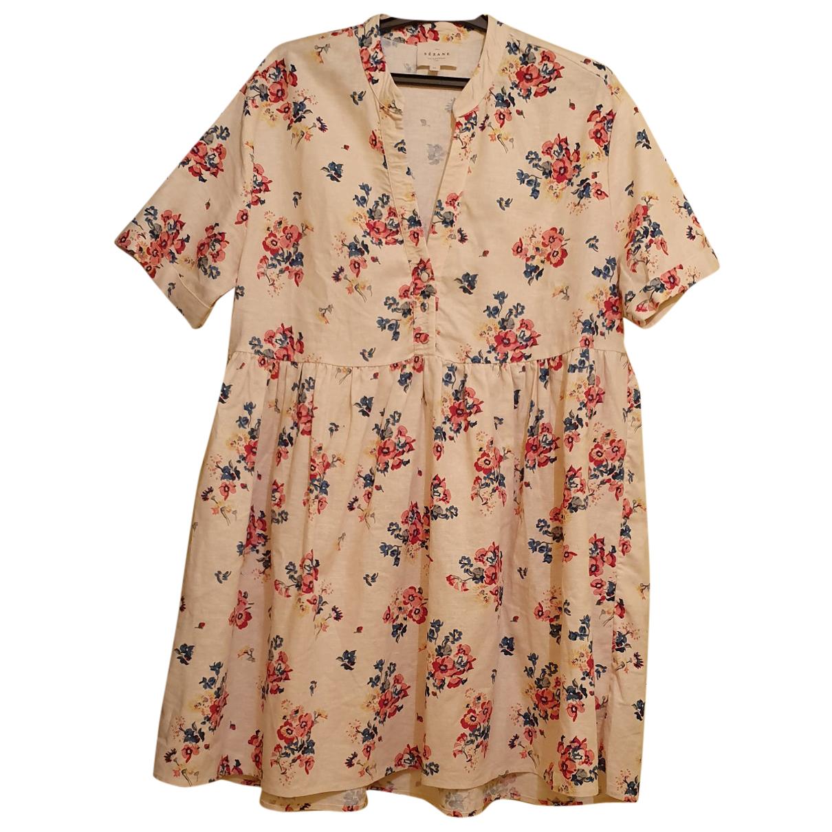 Sézane Spring Summer 2020 Multicolour Linen dress for Women 34 FR