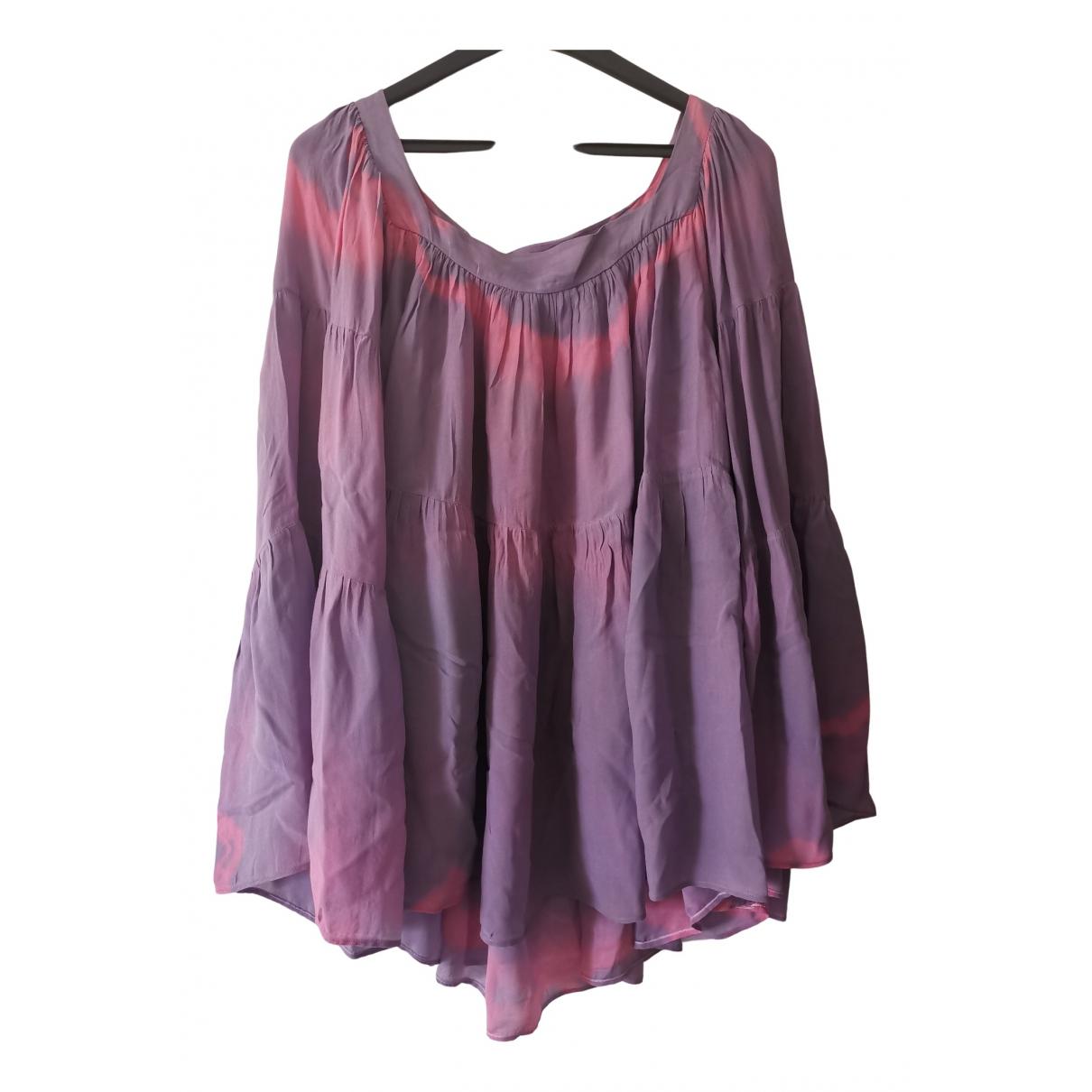 Balmain - Top   pour femme en soie - violet