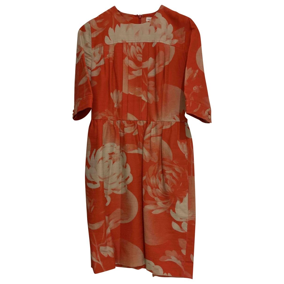 Jonathan Saunders \N Kleid in  Rot Baumwolle