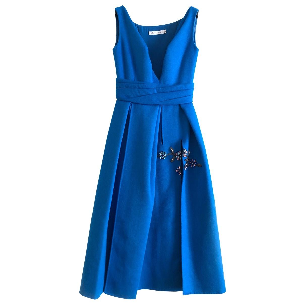Dior - Robe   pour femme en laine - bleu