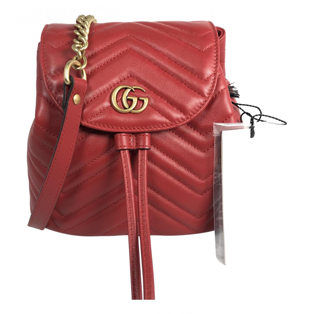 Mochila Marmont de Cuero Gucci