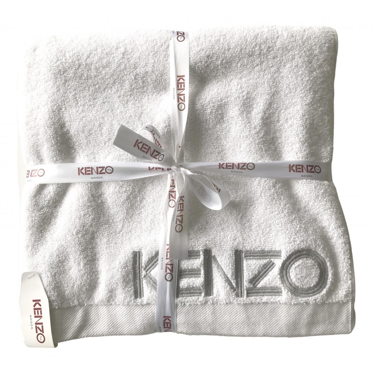 Kenzo - Linge de maison   pour lifestyle en eponge - blanc