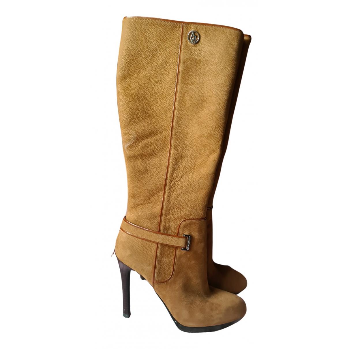 Armani Jeans \N Stiefel in  Beige Leder