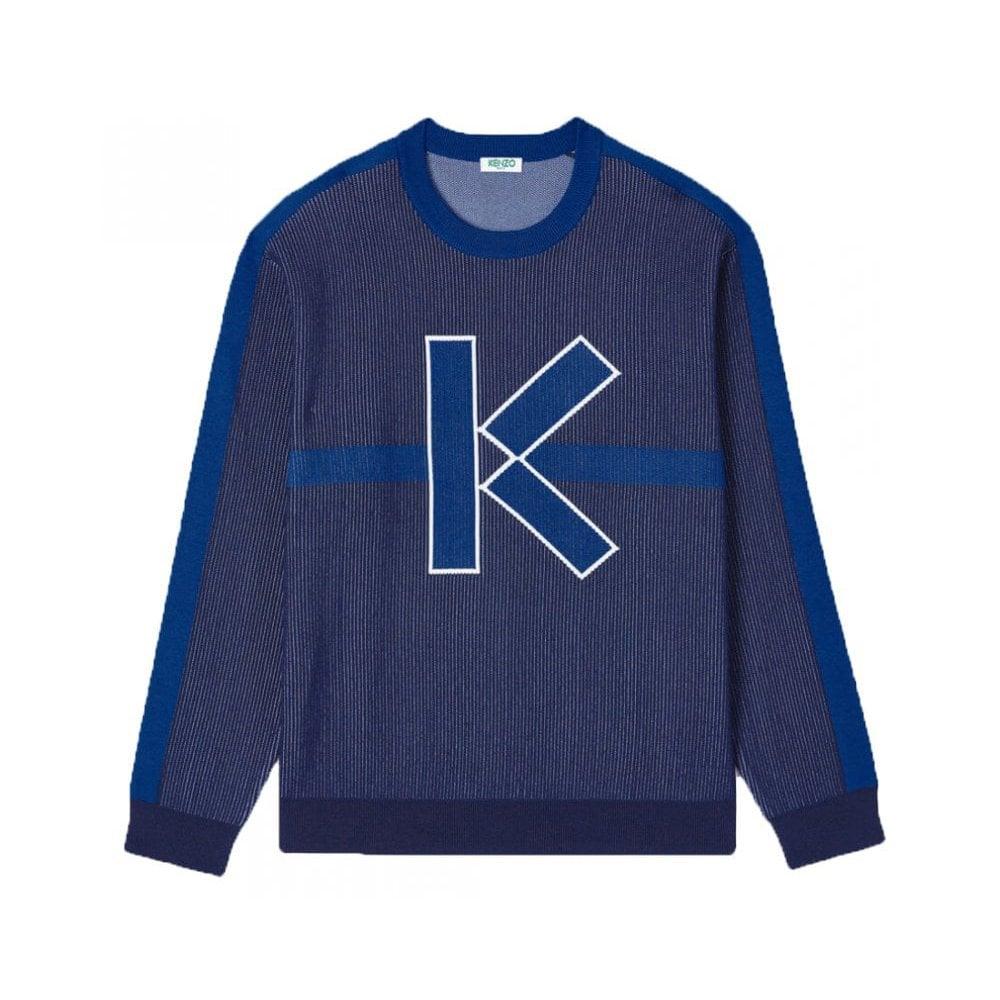 Kenzo K Jacquard Knitwear Colour: BLUE, Size: MEDIUM