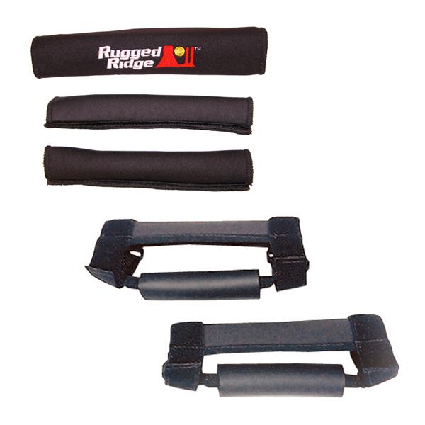 Rugged Ridge 13505.15 Grab Handle Kit, Black; 97-06 Jeep Wrangler TJ/LJ Jeep Wrangler 1997-2006