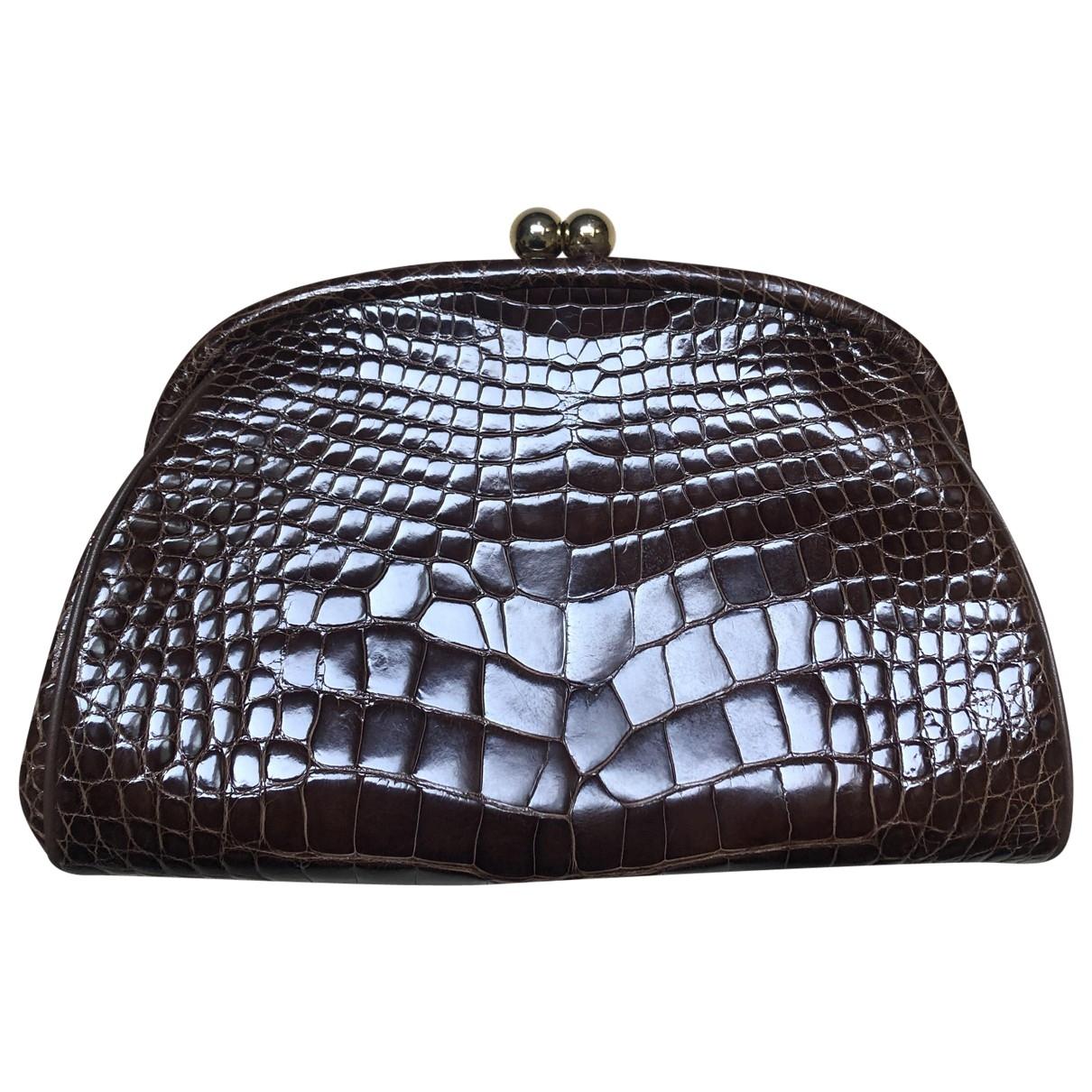 Colombo \N Brown Crocodile handbag for Women \N