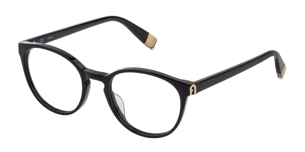 Furla VFU393 0700 Men's Glasses Black Size 50 - Free Lenses - HSA/FSA Insurance - Blue Light Block Available