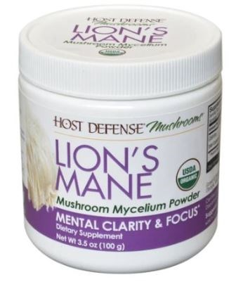 Lion's Mane Mushroom Mycelium Powder 100 Grams by Host Defense