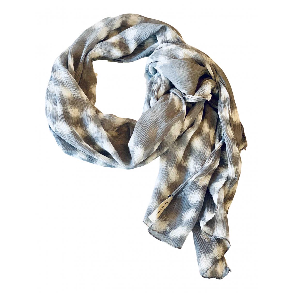 Burberry N Grey Silk scarf for Women N