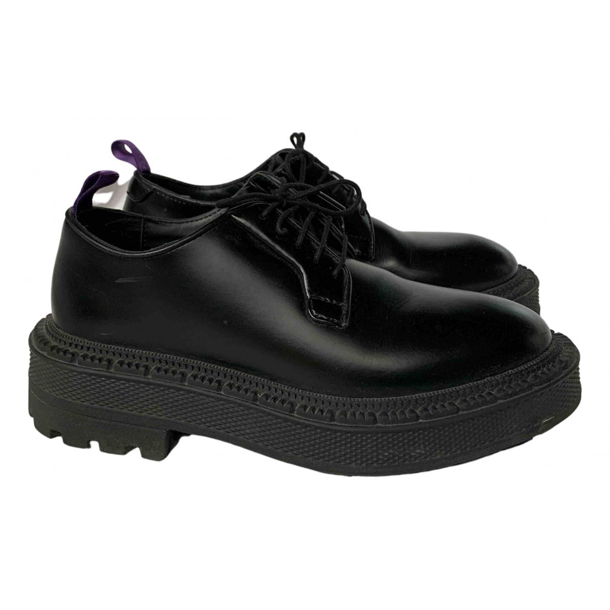 Eytys N Black Leather Lace ups for Women 3.5 UK