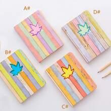 1 paquete de cuaderno de hojas de arce y rayas