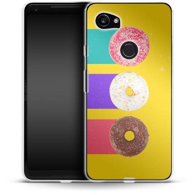 Google Pixel 2 XL Silikon Handyhuelle - Donuts von Danny Ivan