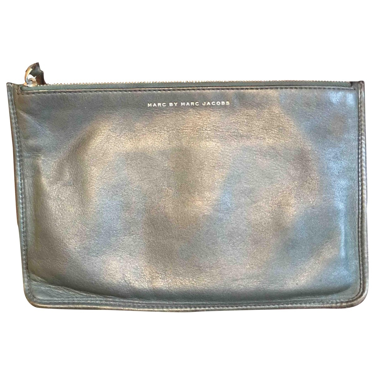 Marc By Marc Jacobs \N Clutch in  Khaki Leder