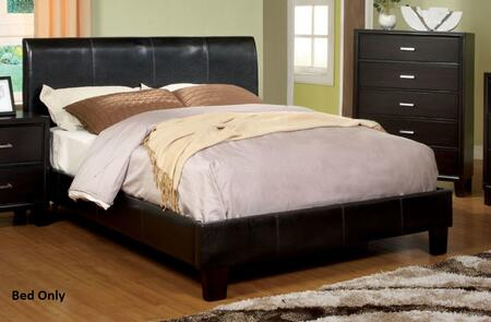 Villa Park Collection CM7007CK-BED California King Size Bed with Upholstered  Curved Headboard and European Slat Kit in