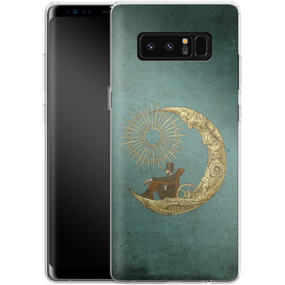 Samsung Galaxy Note 8 Silikon Handyhuelle - Moon Travel von Eric Fan
