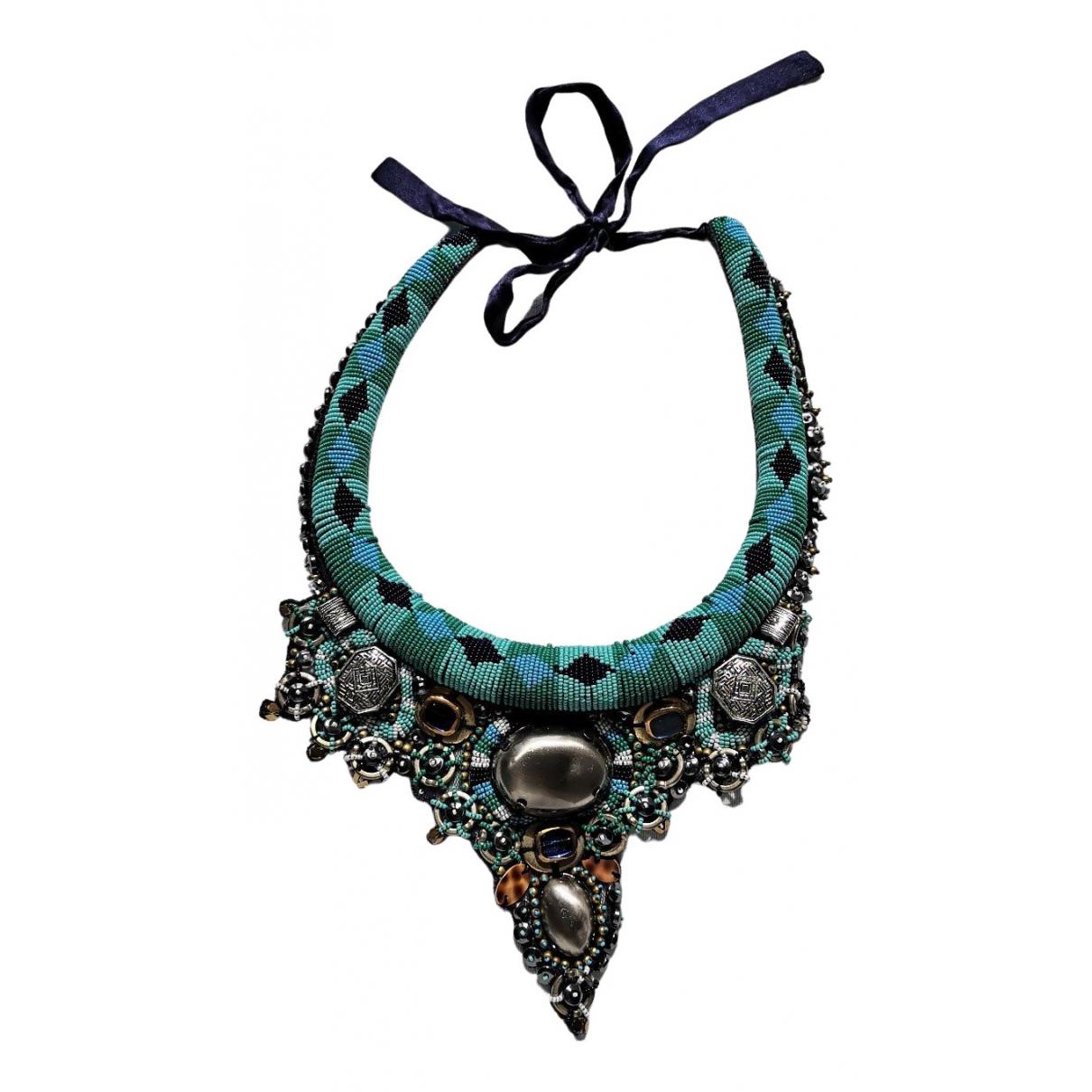 Pinko - Collier   pour femme en perles - bleu