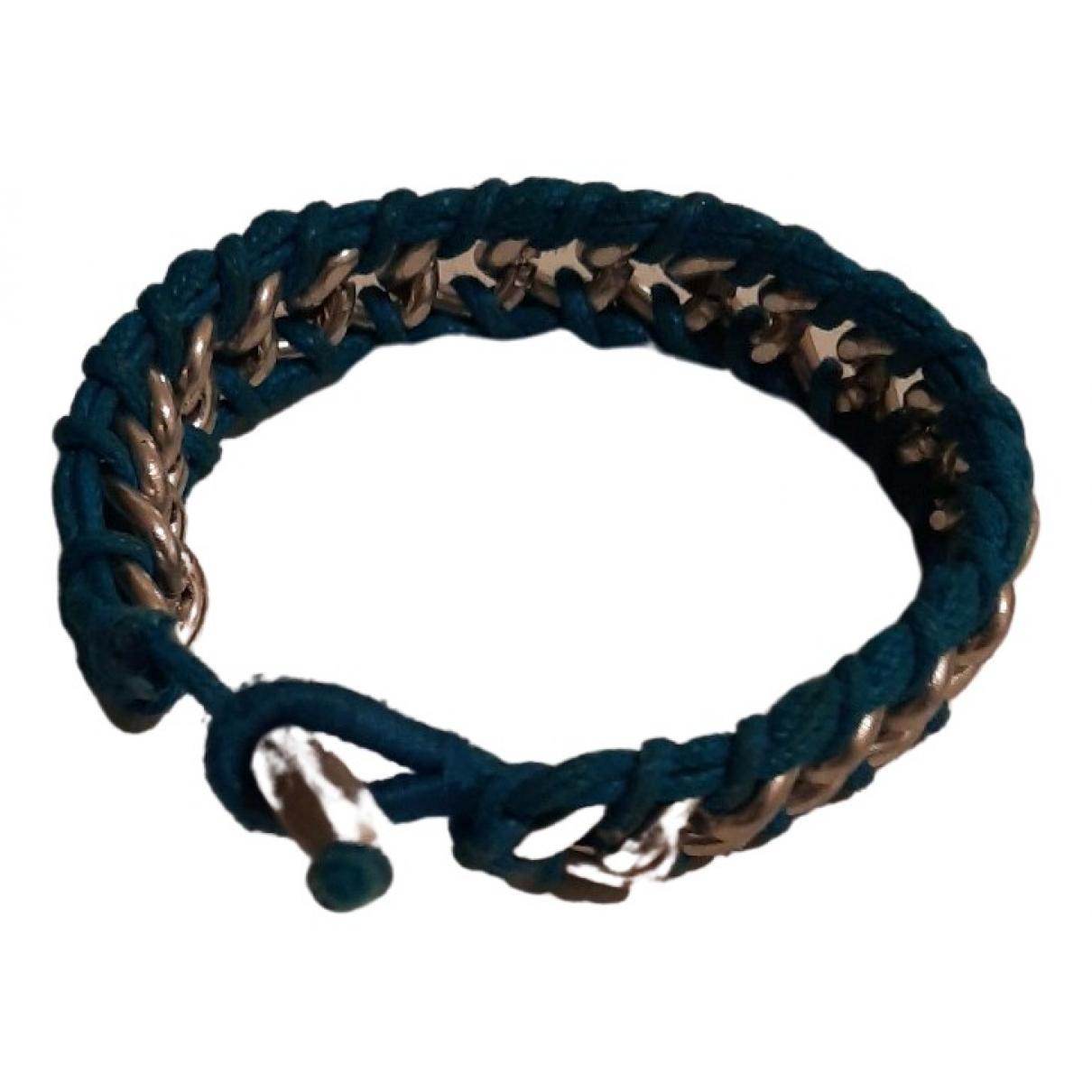 Diesel - Bracelet   pour femme en metal - bleu