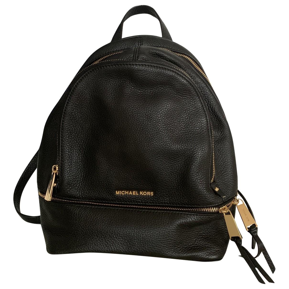 Michael Kors Rhea Black Leather backpack for Women \N