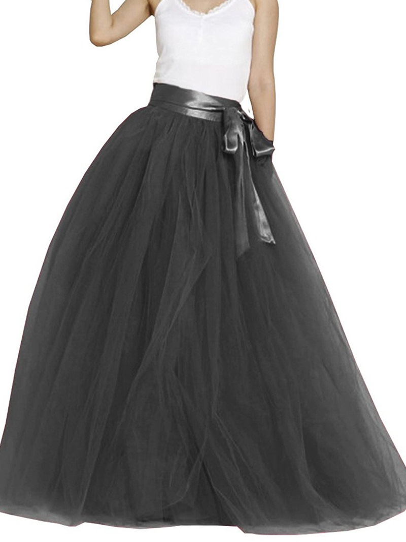 Ericdress Ball Gown Floor-Length High-Waist Women's Skirt
